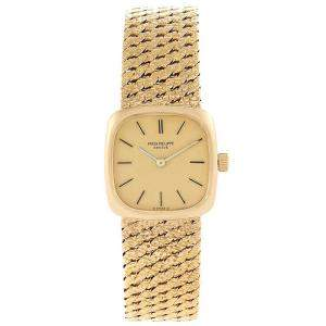 Patek Philippe Champagne 18K Yellow Gold Vintage Coctail 4179 Women's Wristwatch 20x20MM