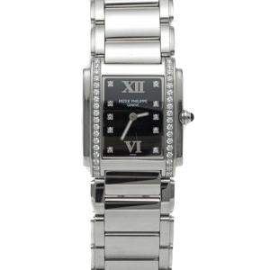 Patek Philippe White Dial Twenty-4 4910/1A Stainless Steel Diamond Women's Watch 30MM