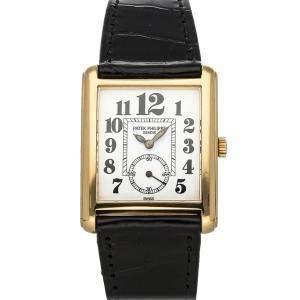 Patek Philippe White 18K Yellow Gold Gondolo 5014J-015 Women's Wristwatch 28 MM