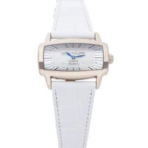 Patek Philippe MOP 18K White Gold Gondolo Gemma 4980G-001 Women's Wristwatch 37 x 22.5 MM