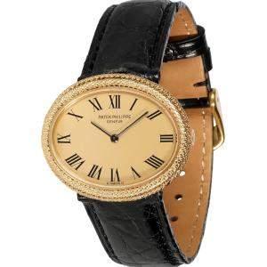 Patek Philippe Champagne 18K Yellow Gold Ellipse 4290 Women's Wristwatch 31 MM