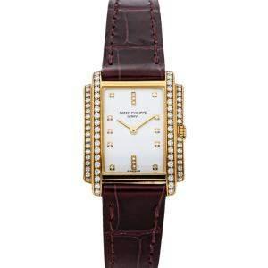 Patek Philippe White Diamonds 18K Yellow Gold Gondolo 4825J Women's Wristwatch 22 MM