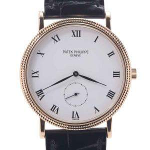 Patek Philippe White 18K Yellow Gold Calatrava 3919J-001 Women's Wristwatch 34 MM