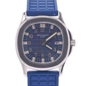 Patel Philippe Blue Stainless Steel Aquanaut 4960A-001 Women's Wristwatch 29.5 MM