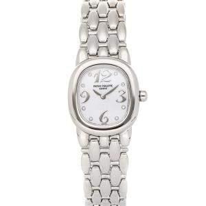 Patek Philippe White Diamonds 18K White Gold Ellipse 4830/1G Women's Wristwatch 26 MM