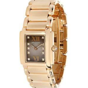 Patek Philippe Brown Diamonds 18K Rose Gold Twenty-4 4907/1J Women's Wristwatch 22 MM