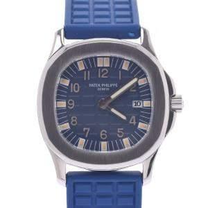 Patek Philippe Blue Stainless Steel Aquanaut Japan Limited 4960A-001 Quartz Women's Wristwatch 28 MM