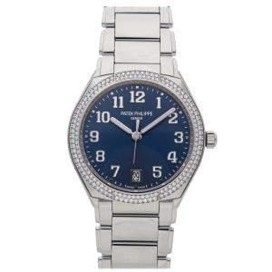 Patek Philippe Blue Diamonds Stainless Steel Twenty 4 Round 7300/1200A-001 Women's Wristwatch 36 MM