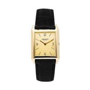 Patek Philippe Champagne 18K Yellow Gold Gondolo 3491J Women's Wristwatch 26 x 25 MM