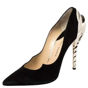 """حذاء كعب عالي بول أندرو """"شريسلر زيناديا"""" سويدي أسود مقاس 38.5"""