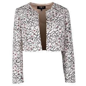 Paule Ka Hiver'16 Blush Pink Floral Print Bolero Jacket L