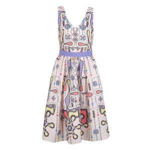 Peter Pilotto Blush Pink 3D Waffle Texture Printed Circle Dress M