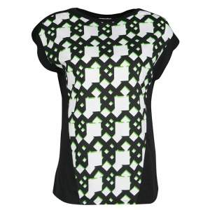 Peter Pilotto Black Geometric Print T-Shirt S