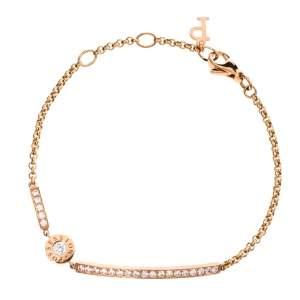 Piaget Possession Diamond 18K Rose Gold Chain Link Bracelet