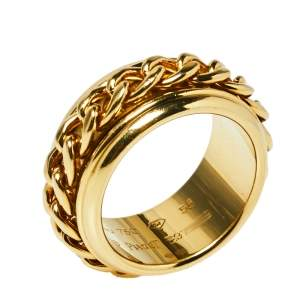Piaget Possession Chain Motif 18K Yellow Gold Ring Size 56