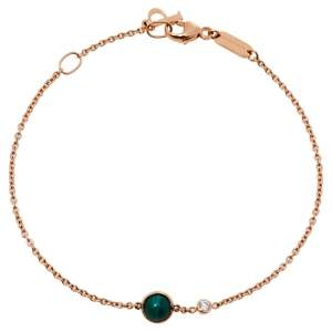 Piaget Possession Diamond Malachite 18K Rose Gold Bracelet