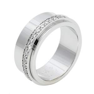 Piaget Possession Diamond 18K White Gold Ring Size 54