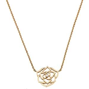 Piaget Rose Diamond 18k Rose Gold Pendant Necklace