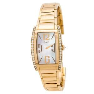 Piaget Mother of Pearl 18K Rose Gold Diamonds Limelight P10266 Women's Wristwatch 27 mm