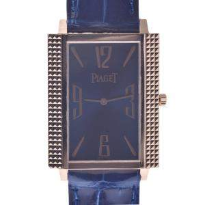Piaget Blue 18K Rose Gold 90300 Women's Wristwatch 28 MM