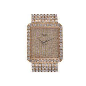 Piaget Silver Diamond 18K Yellow Gold Limelight Manual Winding Women's Wristwatch 25 MM