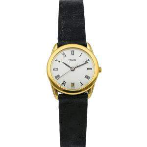 Piaget White 18K Yellow Gold Tradition G0A00667 Women's Wristwatch 25 MM
