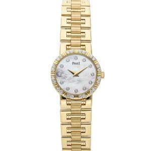 Piaget MOP Diamonds 18k Yellow Gold Dancer 80564 Women's Wristwatch 24 MM