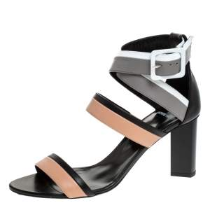 Pierre Hardy Multicolor Leather Alpha Buckle Cross Strap Sandals Size 40