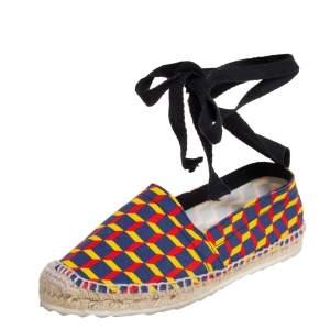 PIERRE HARDY Multicolor Canvas Espadrille Flats Size 39