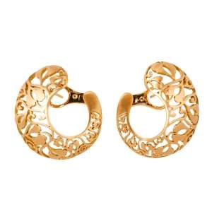 Pomellato Arabesque Matt finish 18K Rose Gold Stud Earrings