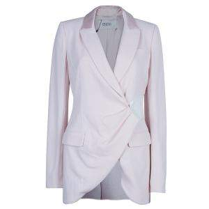 Prabal Gurung Snakeskin Patch Tuxedo Wrap Jacket S