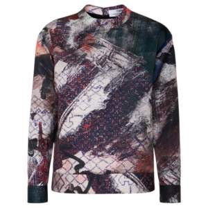Prabal Gurung Printed Satin Sweatshirt M