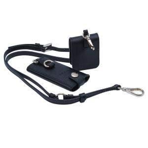 Prada Black Saffiano Leather Hanger Mini Wallet