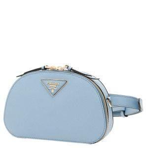 حقيبة حزام برادا جلد ميني أودت زرقاء