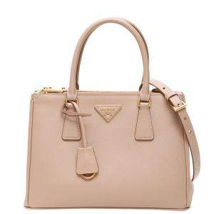 Prada Light Pink Saffiano Leather Lux Galleria Bag