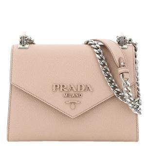 Prada Ligth Pink Leather Monochrome Bag