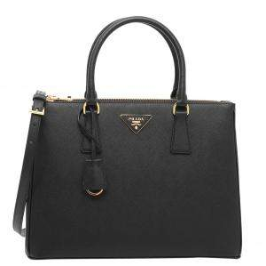 Prada Black Saffiano Lux Leather Galleria Bag