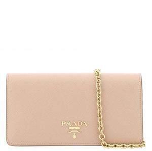Prada Beige Saffiano Leather Mini Bag