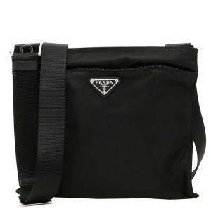 Prada Black Nylon Vela Bag