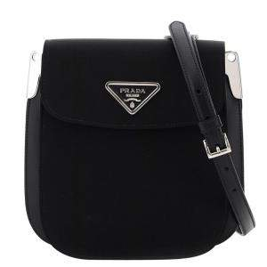 Prada Black Nylon/Leather Margit Crossbody Bag