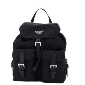 Prada Black Nappa Nylon Backpack