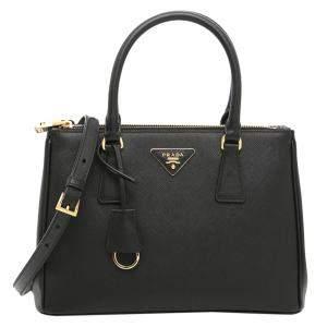 Prada Black Saffiano Lux Leather Galleria Small Bag