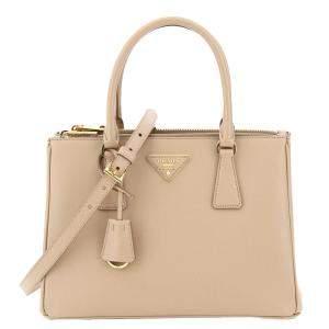 Prada Nude/Pink Saffiano Leather Lux Galleria Small Bag
