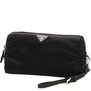Prada Black Nylon Logo Cosmetic Pouch