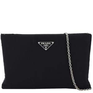 Prada Black Nylon Clutch on Chain