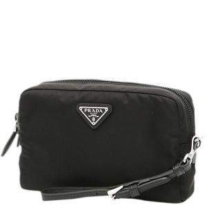 Prada Black Nylon Wristlet Clutch
