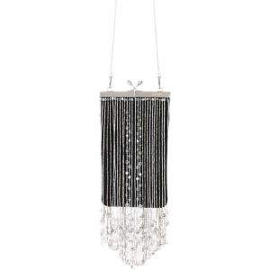 Prada Black Nylon Beaded Fringe Clutch