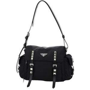 Prada Black Nylon New Vela Crossbody Bag