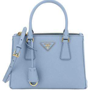 Prada Blue Saffiano Lux Leather Galleria Bag