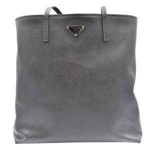 Prada Black Leather Tote Bag